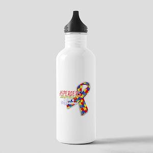 ASPERGERS awareness I am a Supporter Water Bottle