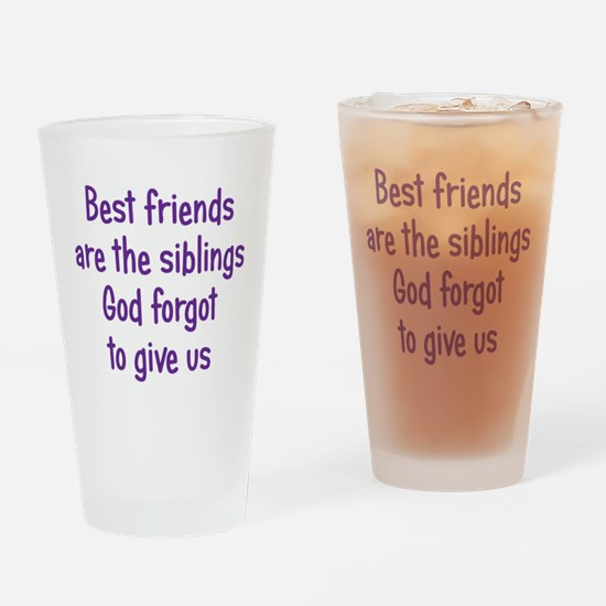 God and Best Friends Drinking Glass