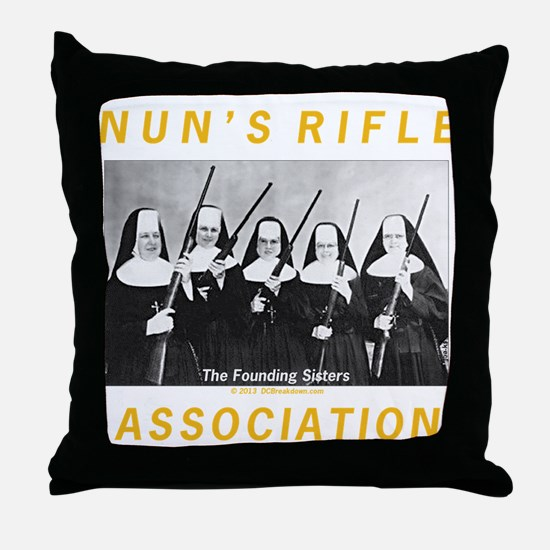 N.R.A. Throw Pillow