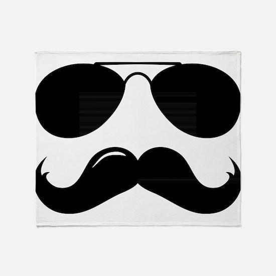 Macho Mustache Throw Blanket