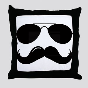 Macho Mustache Throw Pillow