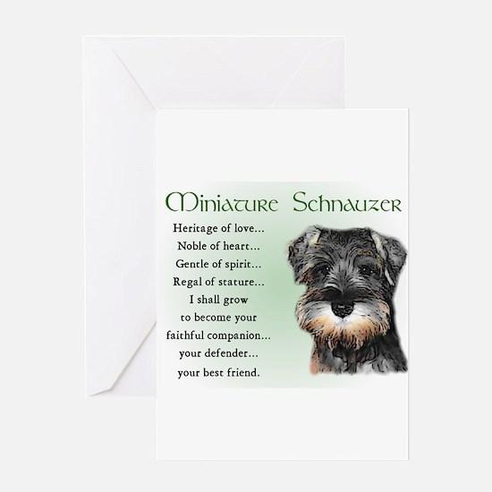mini schnauzer heritage Greeting Cards