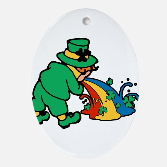 drunk-leprechaun.png Ornament (Oval)