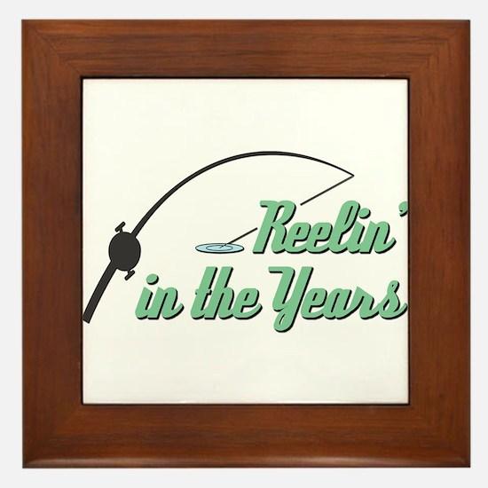 Reelin' in the Years Framed Tile