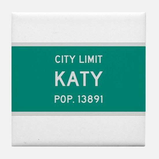 Katy, Texas City Limits Tile Coaster