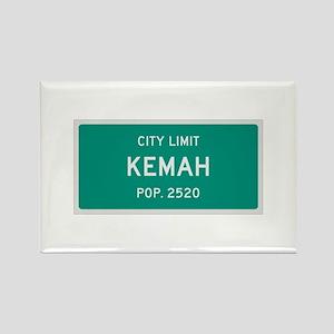 Kemah, Texas City Limits Rectangle Magnet