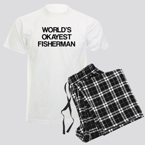 World's Okayest Fisherman Men's Light Pajamas
