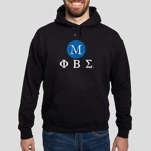 Phi Beta Sigma Letters Monogrammed Hoodie (dark)