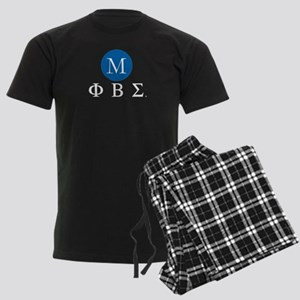Phi Beta Sigma Letters Monogra Men's Dark Pajamas