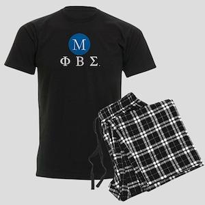 Phi Beta Sigma Letters Monogra Men's Dark Pajamas