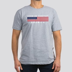 Born In Connecticut Men's Fitted T-Shirt (dark)