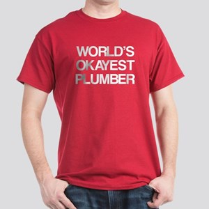 World's Okayest Plumber Dark T-Shirt