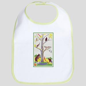 animal tree Bib
