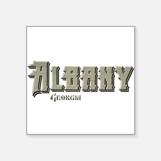 "Georgia Square Sticker 3"" x 3"""
