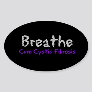 Breathe (Cure CF) Oval Sticker