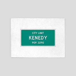 Kenedy, Texas City Limits 5'x7'Area Rug
