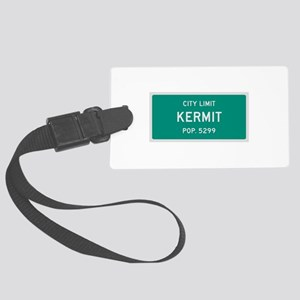 Kermit, Texas City Limits Luggage Tag