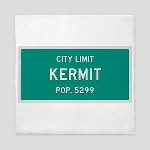 Kermit, Texas City Limits Queen Duvet