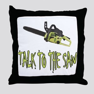 The Saw Throw Pillow