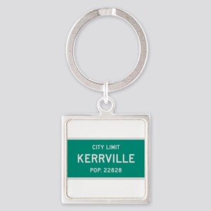 Kerrville, Texas City Limits Square Keychain