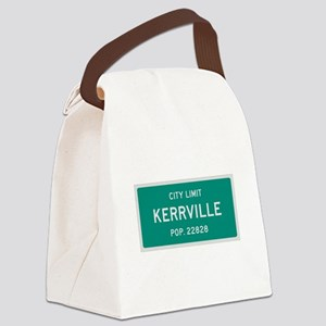 Kerrville, Texas City Limits Canvas Lunch Bag
