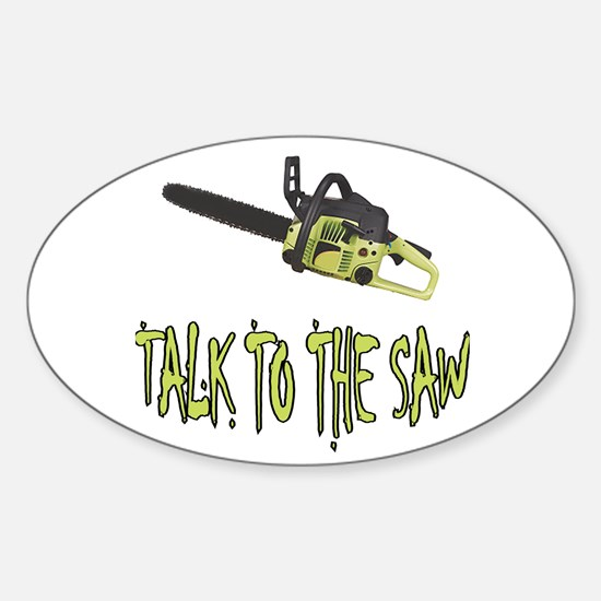 The Saw Oval Decal