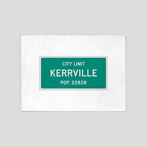 Kerrville, Texas City Limits 5'x7'Area Rug