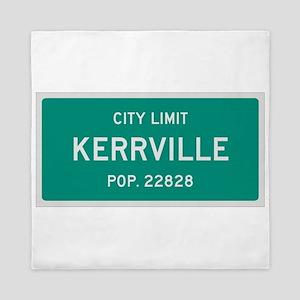 Kerrville, Texas City Limits Queen Duvet