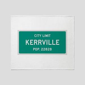 Kerrville, Texas City Limits Throw Blanket