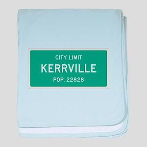 Kerrville, Texas City Limits baby blanket