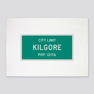 Kilgore, Texas City Limits 5'x7'Area Rug