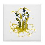 Atom Flowers #3 Tile Coaster