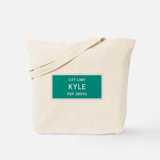 Kyle, Texas City Limits Tote Bag