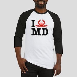 I Love MD (maryland) Baseball Jersey