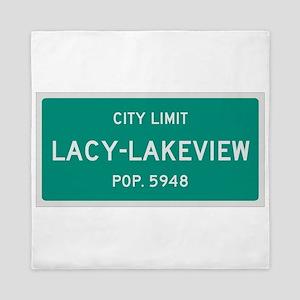 Lacy-Lakeview, Texas City Limits Queen Duvet