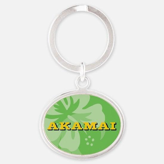 Akamai Oval Keychain