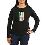 Bottle Logo Irish Women's Long Sleeve Dark T-Shirt