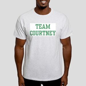 TEAM COURTNEY  Ash Grey T-Shirt