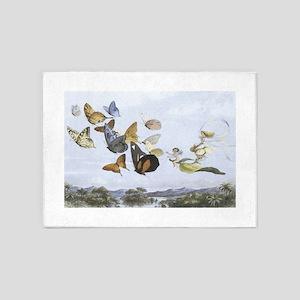 Fairies and Butterflies 5'x7'Area Rug