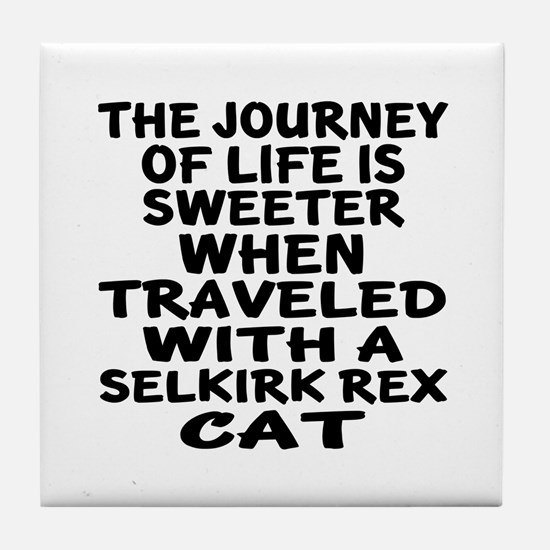 Traveled With Selkirk Rex Cat Tile Coaster