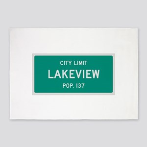 Lakeview, Texas City Limits 5'x7'Area Rug
