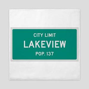 Lakeview, Texas City Limits Queen Duvet