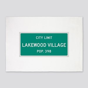 Lakewood Village, Texas City Limits 5'x7'Area Rug
