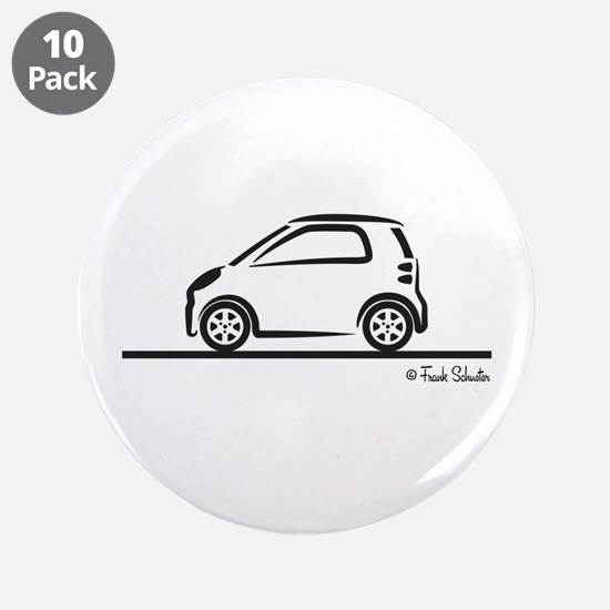 "Smart Fortwo side 3.5"" Button (10 pack)"
