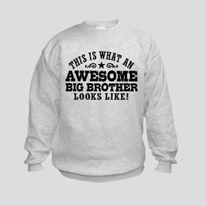 Awesome Big Brother Kids Sweatshirt