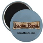 Island Forge Round Magnet