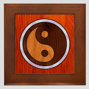 Inlaid Yin Yang Framed Tile