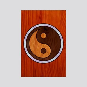 Inlaid Yin Yang Rectangle Magnet