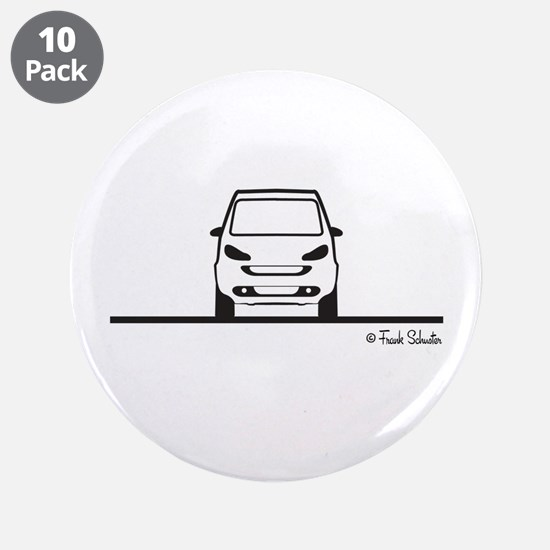 "Smart Fortwo Front 3.5"" Button (10 pack)"