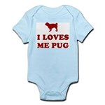 I LOVES ME PUG - Baby creeper